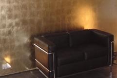 Wandgestaltung-Gold